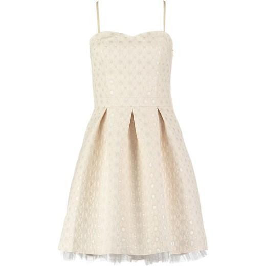 e137eabd06 NAF Sukienka koktajlowa ecru bezowy Zalando w Domodi