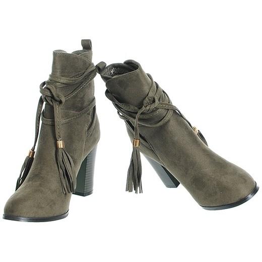6835004b1016f ... ZAMSZOWE BOTKI DAMSKIE NA SŁUPKU 36 Family Shoes ...