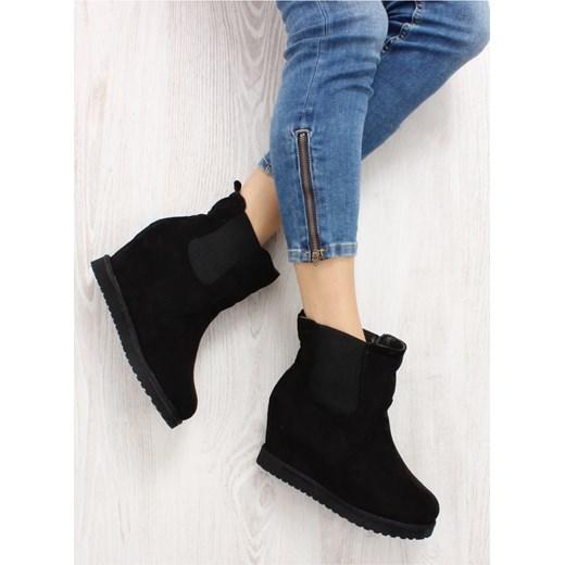 292aeb4b4fc54 EMUSY SZTYBLETY NA KOTURNIE 5102 CZARNY Inello czarny Family Shoes ...