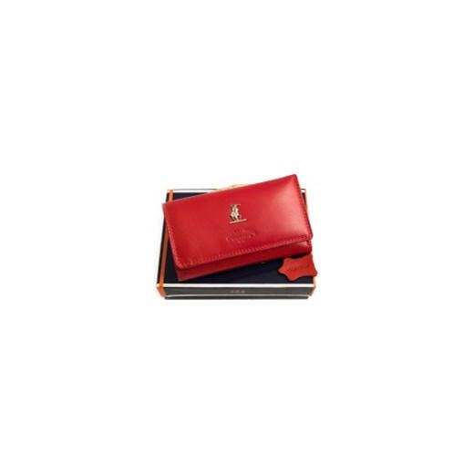 834ca8dccf2b6 Portfel damski skórzany Harvey Miller 3820 PL10 R galmark czerwony damskie