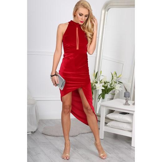 7e57fbb608 ... Czerwona Sukienka w Stylu Glamour 9476 fasardi czerwony S fasardi.com