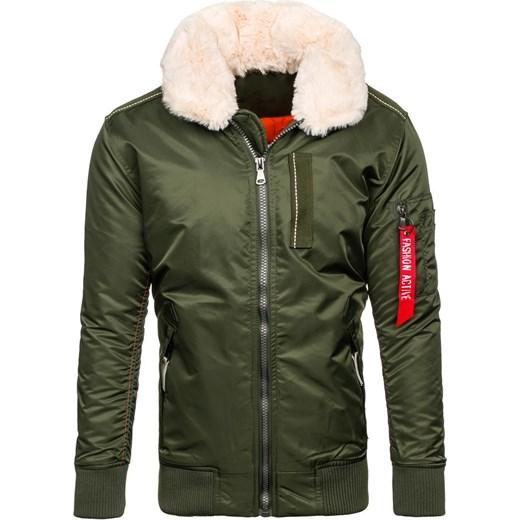 f6d927a5b8d91 ... Zielona kurtka męska zimowa Denley 3170 J.Style L Denley.pl okazyjna  cena ...