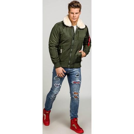 7a788cda51c71 ... okazyjna cena  Zielona kurtka męska zimowa Denley 3170 J.Style M  promocyjna cena Denley.pl ...