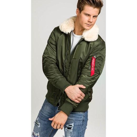 637e2e65d6d68 ... Zielona kurtka męska zimowa Denley 3170 J.Style M Denley.pl okazyjna  cena ...
