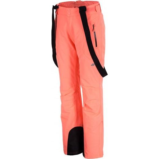 [T4Z16 SPDN001] Spodnie narciarskie damskie SPDN001 łososiowy koral 4F