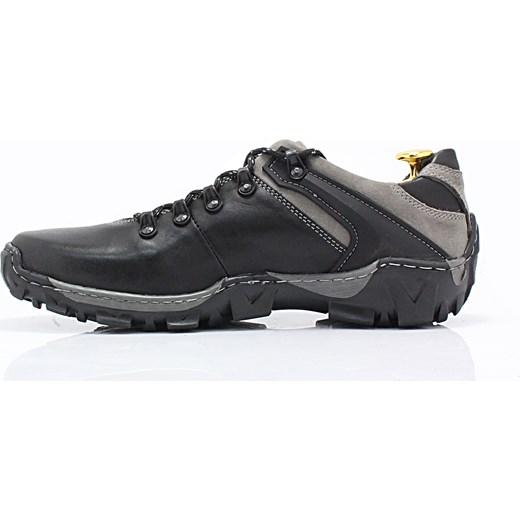 064c9cab ... KENT 116 CZARNO-SZARE - Trekkingowe buty męskie 100% skórzane  sklep-obuwniczy- ...