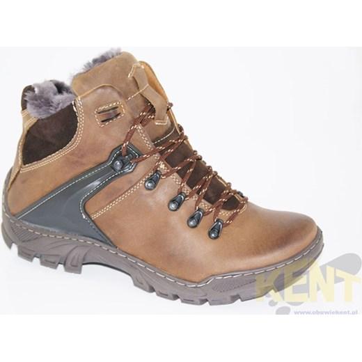 f9f210f7 ... KENT 119 BRĄZOWE - Wysokie buty zimowe, skóra, naturalne futro  WYPRZEDAŻ sklep-obuwniczy ...