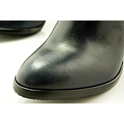 b5bdf2669f062 ... KOTYL 6933 GRANAT - Wygodne skórzane botki na stabilnym słupku  WYPRZEDAŻ sklep-obuwniczy-kent