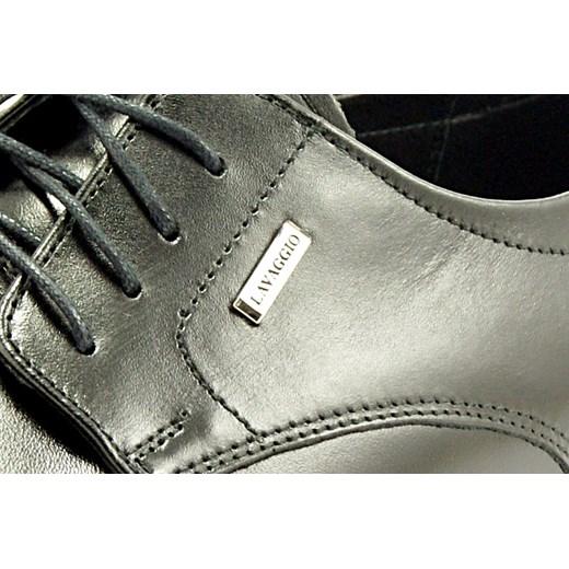 e44bf4dd71334 ... 1043 CZARNY - Klasyczne męskie półbuty ze skóry, wizytowe  sklep-obuwniczy-kent zielony ...