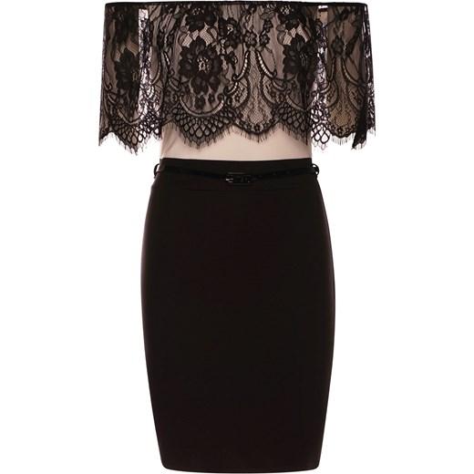 9ed0d3fe89 Ekskluzywna sukienka z koronką odkryte ramiona czarna czarny Divine Wear XL  ...