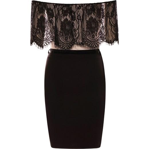 4d1500c7cd ... Ekskluzywna sukienka z koronką odkryte ramiona czarna czarny Divine Wear  XL ...