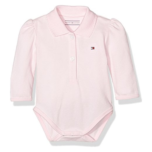 d70f2c2141265 Body Tommy Hilfiger BABY BASIC POLO BODY L/S dla dzieci, kolor: różowy