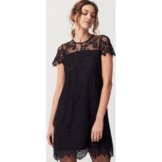 c692fbaf6e Mohito - Koronkowa sukienka z krótkim rękawem after hours - Czarny czarny  Mohito 32 ...