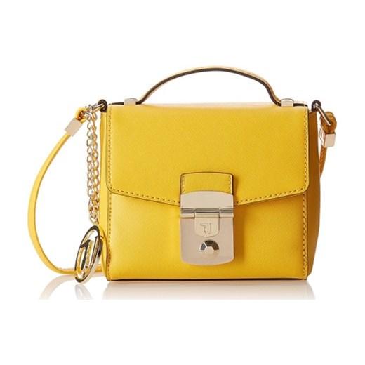 ef7f85f1817ae Torebka TRUSSARDI mały żółty kuferek z klamrą na ramię zolty Original Label