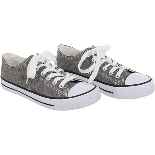 JASNY SZARY TRAMPKI Family Shoes Buty Damskie BY szary