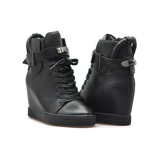 1e268921b599 Sneakersy Sergio leone 28788 Czarne lico Sergio Leone czarny Arturo-obuwie  ...
