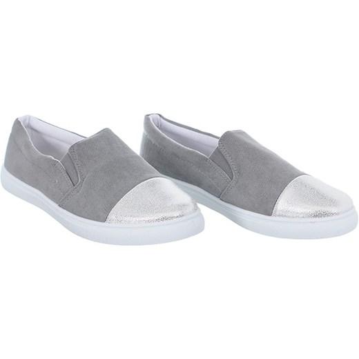 9b97ea37b5a03 ... TRAMPKI SREBRNY CZUBEK szary 41 Family Shoes ...