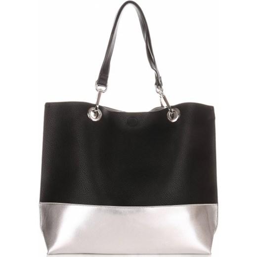 69e2087d58f8d Modna Torba Damska David Jones Typu Shopper Bag XL z Etui Czarna David  Jones czarny PaniTorbalska ...