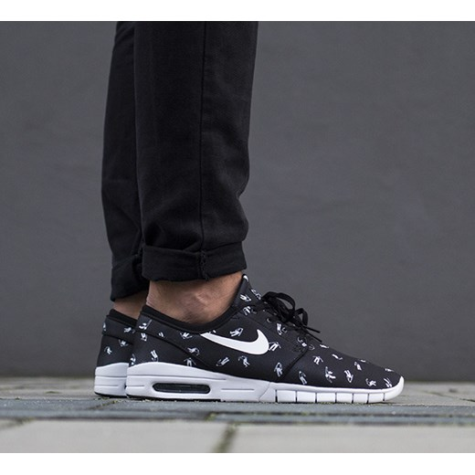 Buty męskie sneakersy Nike Stefan Janoski Max Premium 807497 010 czarny sneakerstudio.pl