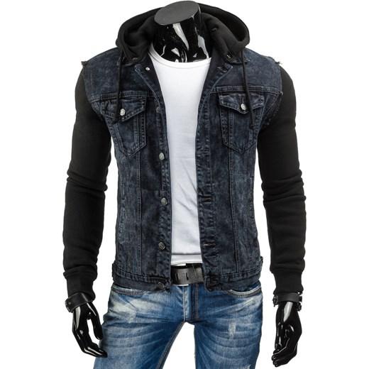 94731eaaaef7a Kurtka męska jeansowa czarna (tx1626) Dstreet w Domodi
