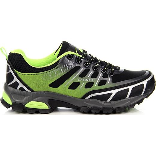 9f59df9528129f Czarno zielone sportowe buty trekkingowe wodoodporne Hasby ButyRaj.pl w  Domodi