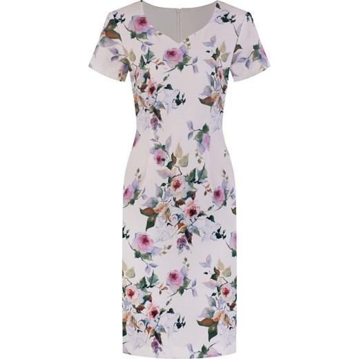 6e22eaf3 Wiosenna sukienka Tycjana VII, wizytowa kreacja w kwiaty. Modbis