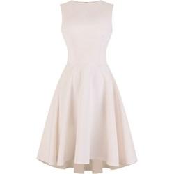 9f375b650d Beżowe sukienki na studniówkę midi