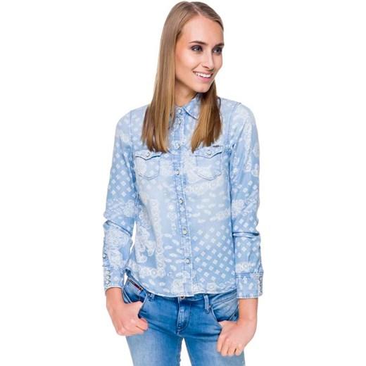 5b5bdab29 KOSZULA JEANSOWA FREEDOM niebieski Pepe Jeans splendear.com w Domodi