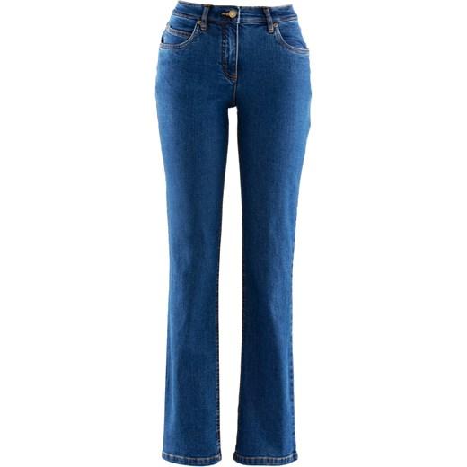 """trwałe modelowanie Dżinsy ze stretchem """"STRAIGHT"""" bonprix granatowy bawełniane Odzież Damska WI granatowy Jeansy damskie AWNT"""
