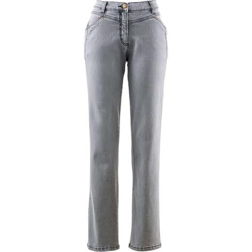 70% ZNIŻKI Spodnie ze stretchem bonprix szary bawełniane Odzież Damska HX szary Jeansy damskie OCFT