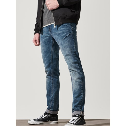 House jeansy slim fit niebieski szary House jeansy