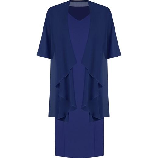 8a56fd480f Sukienka z szyfonową narzutką maskującą brzuch Gizela III. Modbis w ...