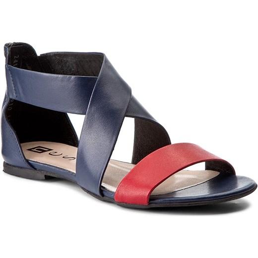Sandały NESSI - 24101 Granat/Czerwony 3/3 eobuwie-pl czarny Buty Damskie QJ wielokolorowy Sandały damskie SYRR