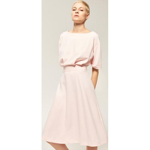 5e0dc32794 Reserved - Gładka sukienka - Różowy Reserved bezowy L ...