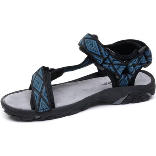 3cd6945a2dc9c0 Sandały młodzieżowe American Club RL1626 black/blue szary American Aligoo w  Domodi