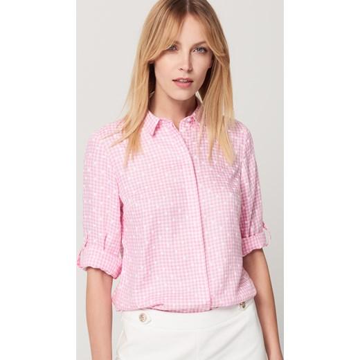 Mohito - Koszula w kratę - Różowy Mohito rozowy 42
