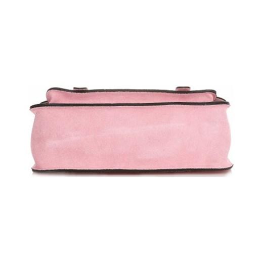 0f48b090f15ca ... Torebki Skórzane Listonoszki Genuine Leather Różowa (kolory) rozowy Genuine  Leather PaniTorbalska ...