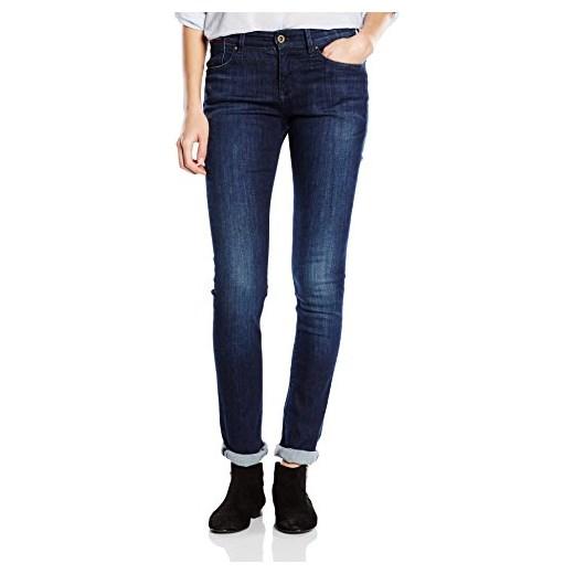 bf5a0f21491e3 Spodnie jeansowe Hilfiger Denim Mid rise slim Naomi DAST dla kobiet, kolor:  niebieski granatowy