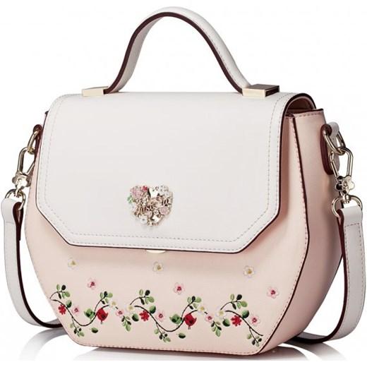 8edab72d0cb61 Wyszywana torebka na ramię Różowa Just Star bezowy Savani w Domodi