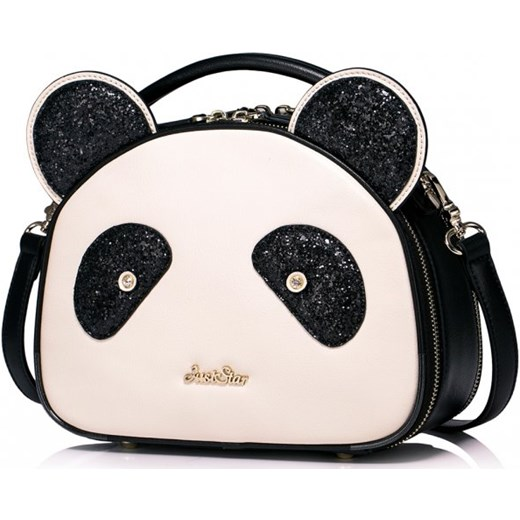 16ae9b24bab51 Dziewczęca torebka na ramię w kształcie pandy Ecru Just Star bezowy Savani  ...