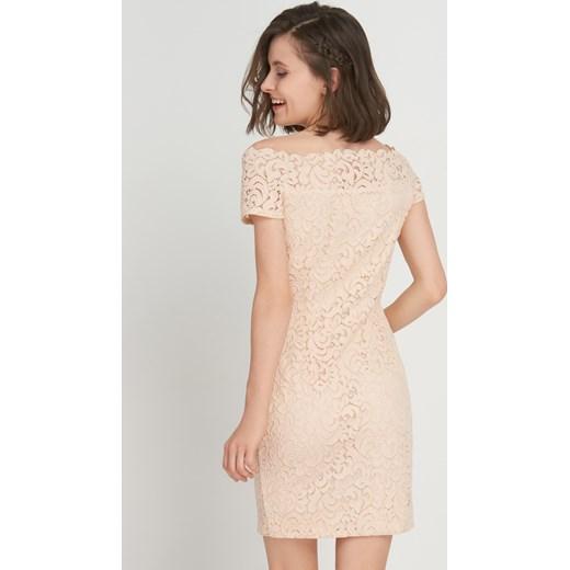 Świeże Ołówkowa sukienka z koronki bezowy Orsay orsay.com w Domodi CW31