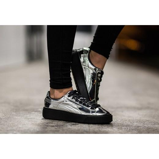puma buty damskie basket platform metallic