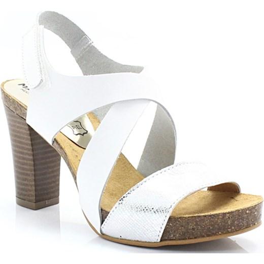 68e956cd4f0a7 MARIETTAS 7808 BIAŁY SREBRO -Skórzane sandały prosto z Hiszpanii Mariettas  bialy 40 Tymoteo.pl