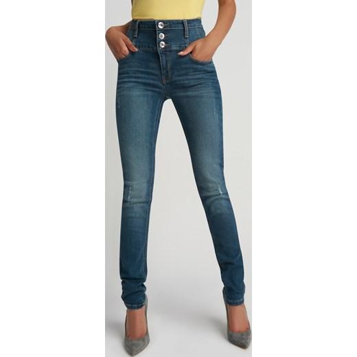 Spodnie skinny z wysokim stanem Orsay zielony