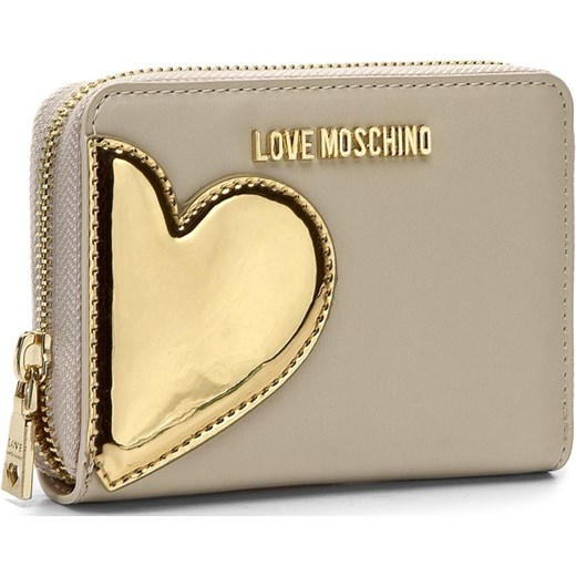 aad7d6a4c05d5 Duży Portfel Damski LOVE MOSCHINO - JC5512PP14LD210A Avorio/Oro Love  Moschino bezowy eobuwie.pl