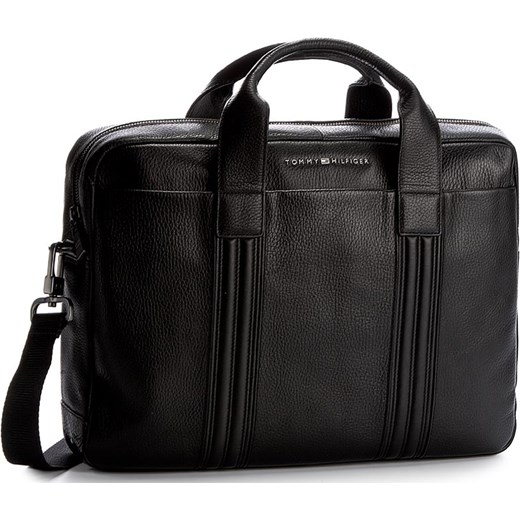 afab9994b64e7 Torba na laptopa TOMMY HILFIGER - Business Leather Computer Bag AM0AM01880  002 Tommy Hilfiger szary eobuwie