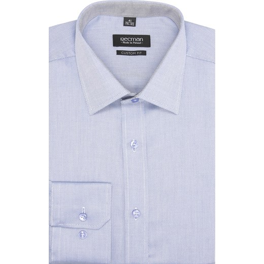765deabe9 koszula bexley 2514 długi rękaw custom fit niebieski niebieski Recman ...