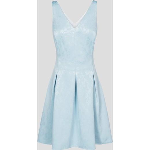 16ee2e0c41 Żakardowa sukienka koktajlowa Orsay bezowy orsay.com w Domodi