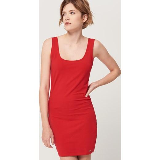 9a55f57a95 ... Mohito - Dzianinowa sukienka na grubych ramiączkach - Czerwony  pomaranczowy Mohito S