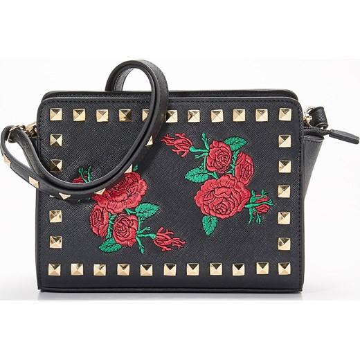 d299bdcc57c57 Sinsay - Mała torebka z kwiatowym haftem - Czarny Sinsay szary One Size ...